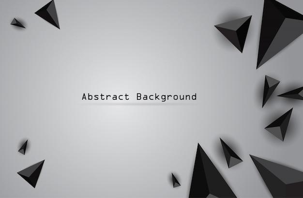 Bannière géométrique abstraite de couleur vector avec triangle.