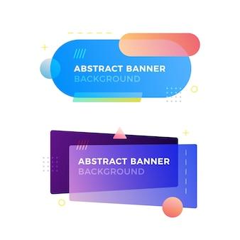 Bannière géométrique abstraite dans le style de conception memphis