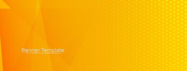 Bannière géométrique abstraite orange et jaune