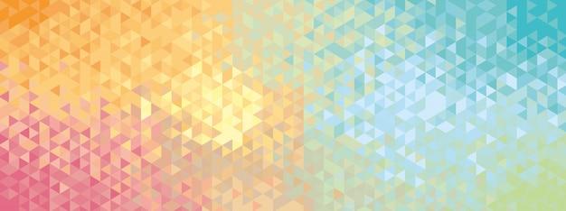 Bannière géométrique abstraite