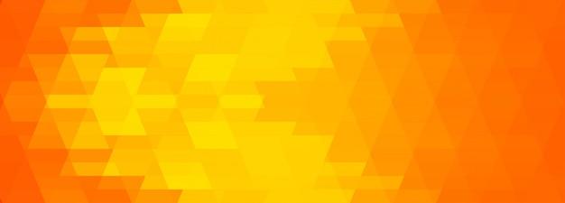 Bannière géométrique colorée abstraite
