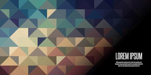 Bannière géométrique low poly