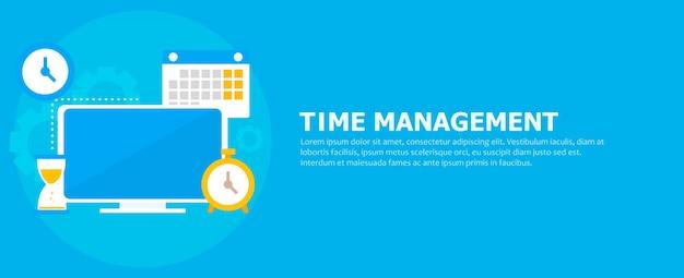 Bannière de gestion du temps