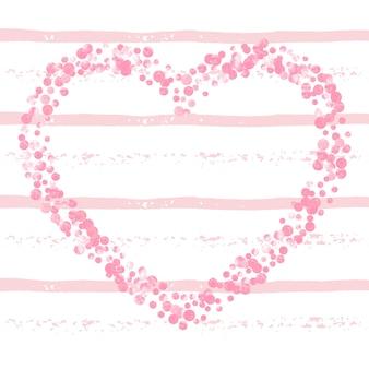 Bannière glamour. imprimé polka rose. illustration d'explosion. brochure de fête des roses. particule féminine. 14 février textile. conception abstraite à rayures. bannière glamour dorée
