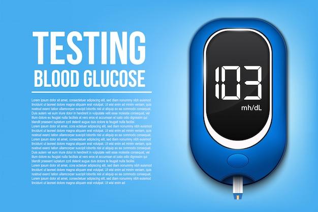 Bannière de glucomètre de diabète