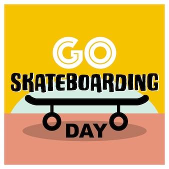 Bannière go skateboarding day avec
