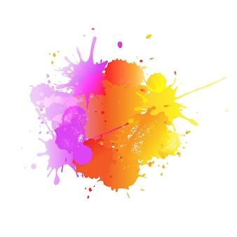 Bannière avec des gouttes colorées et de la peinture
