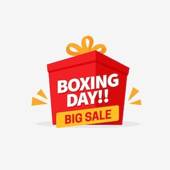 Bannière de grande vente le jour de la boxe