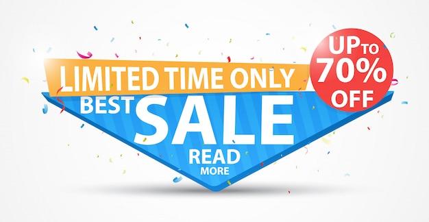 Bannière de grande vente et meilleure offre