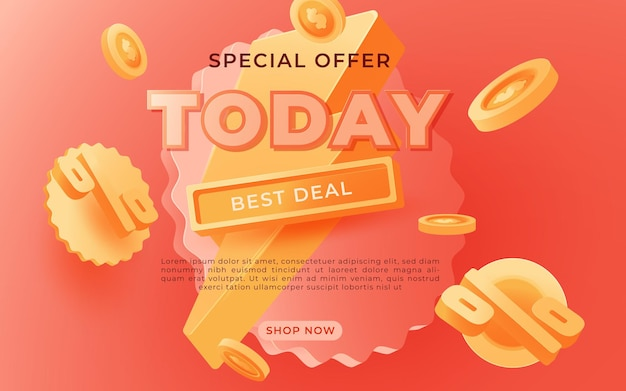 Bannière de grande vente, ce week-end modèle de bannière publicitaire offre spéciale, illustration vectorielle