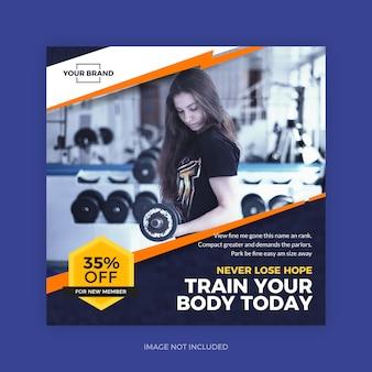 Bannière de gym fitness