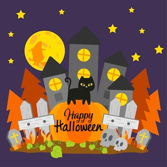 Bannière halloween heureuse.