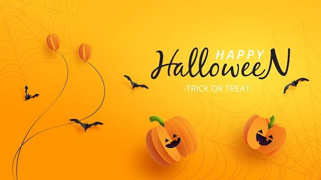 Bannière d'halloween heureux