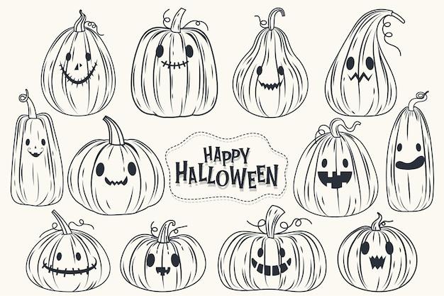 Bannière happy halloween (trick or treat) pour l'invitation.