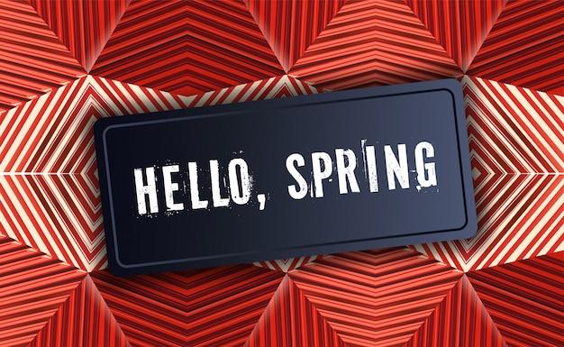 Bannière hello spring