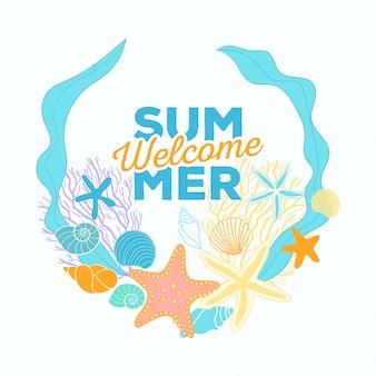 Bannière de l'heure d'été dans la composition du cercle