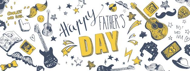 Bannière heureuse fête des pères