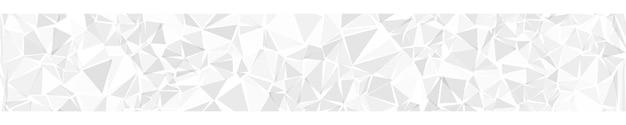 Bannière horizontale abstraite ou arrière-plan de triangles de couleurs blanches.