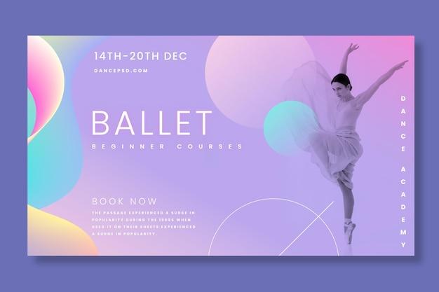 Bannière horizontale de danseuse de ballet