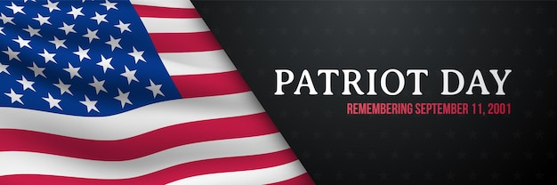 Bannière horizontale du jour du patriote