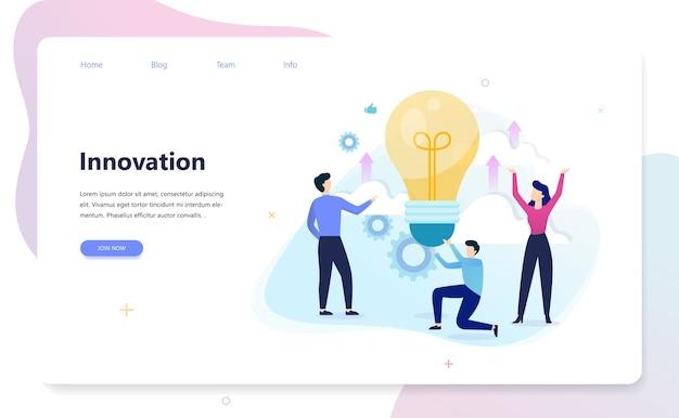 Bannière horizontale d'innovation pour votre site web