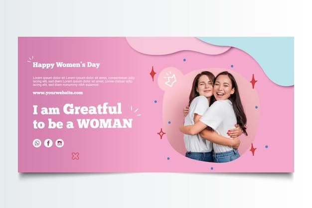 Bannière horizontale de la journée internationale de la femme