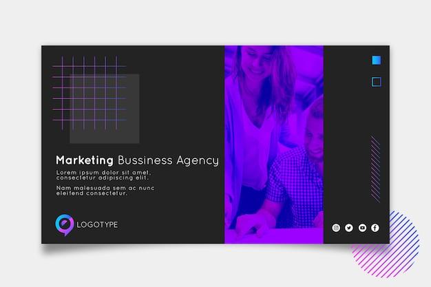 Bannière horizontale de marketing entreprise