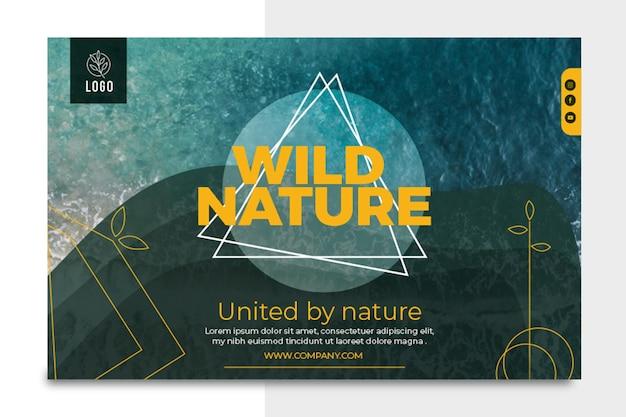 Bannière horizontale de nature sauvage