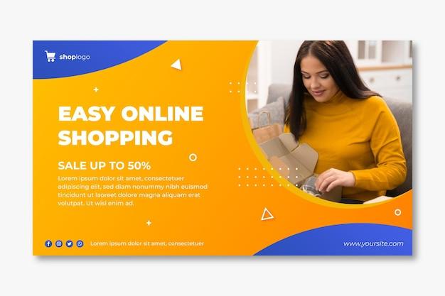 Bannière horizontale pour les achats en ligne