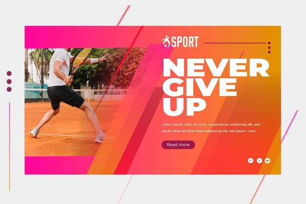 Bannière horizontale pour l'activité sportive