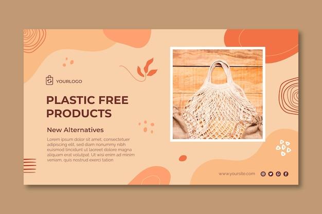 Bannière horizontale de produits sans plastique