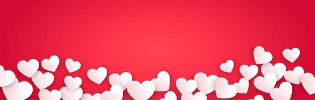 Bannière horizontale de la saint-valentin