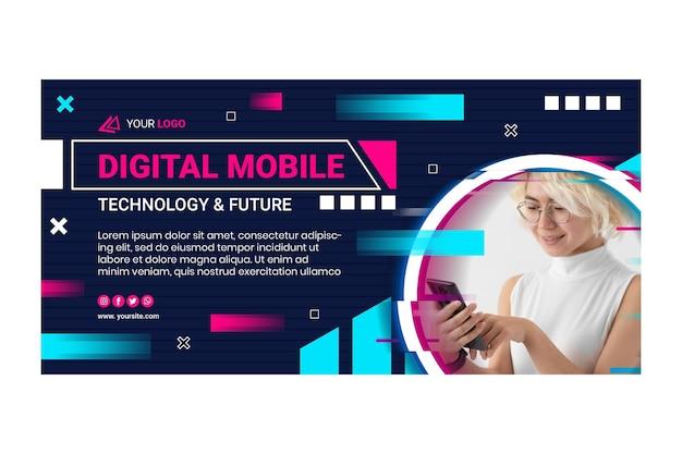 Bannière horizontale de technologie mobile