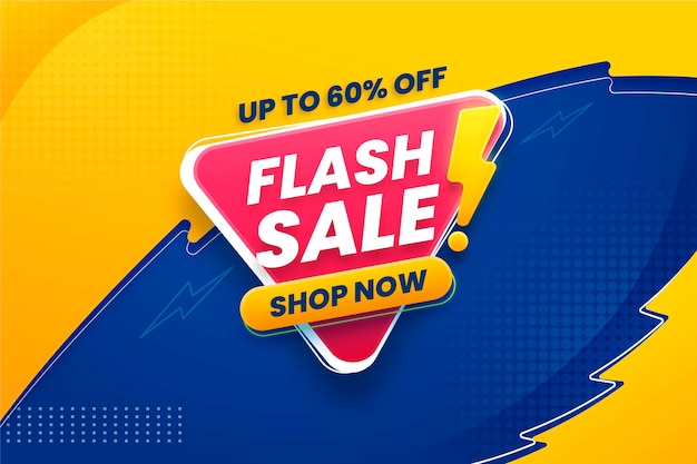 Bannière horizontale de vente flash