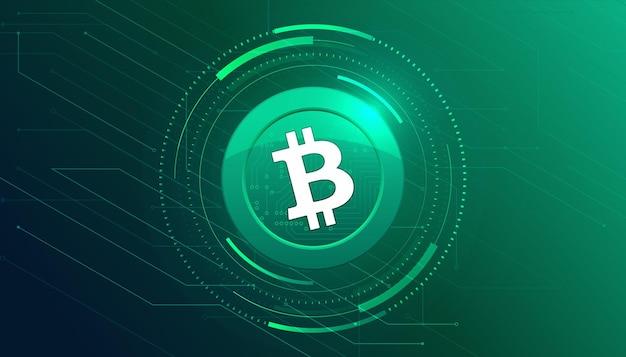 Bannière d'icône bhc. fond de bannière bhc icône crypto-monnaie concept.