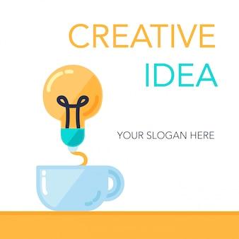 Bannière idée de réussite créative