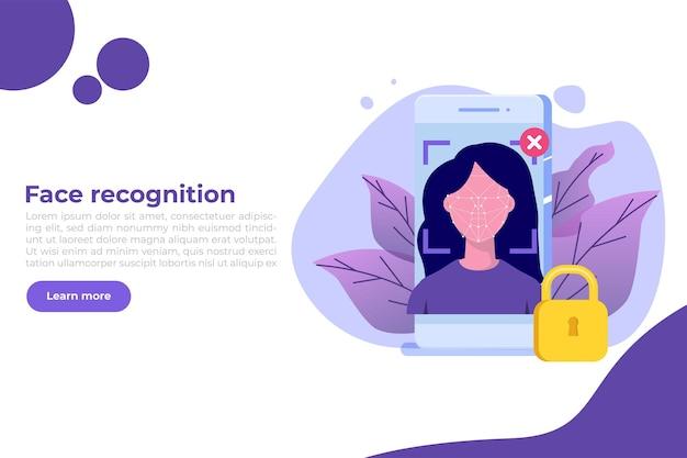 Bannière d'identification biométrique
