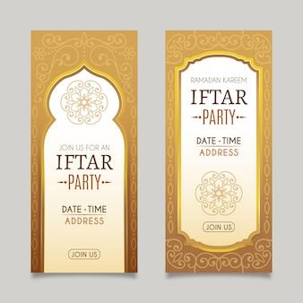 Bannière iftar réaliste