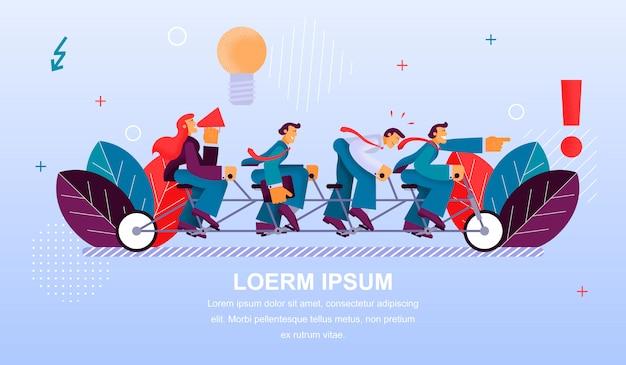 Bannière illustration travail d'équipe groupe gens travailleur