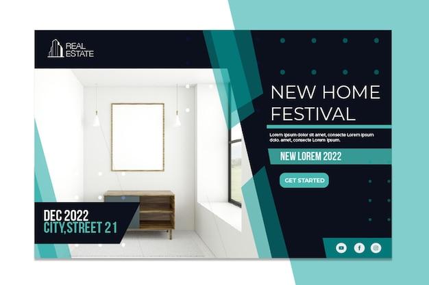 Bannière immobilière festival de la nouvelle maison