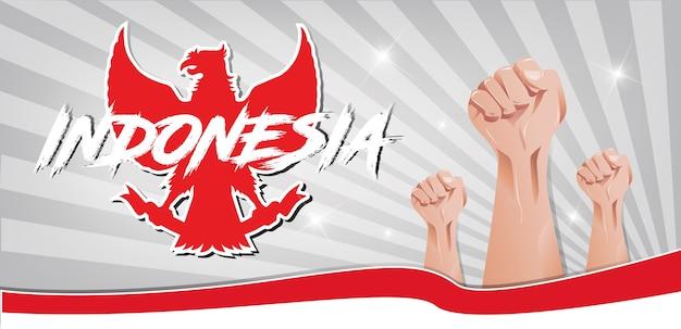 Bannière de l'indépendance de l'indonésie