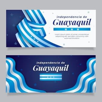 Bannière indépendante de guayaquil réaliste