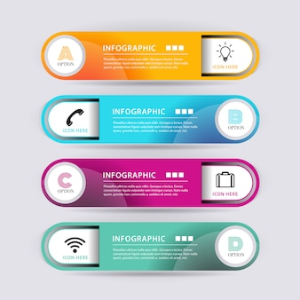Bannière d'infographie de forme abstraite