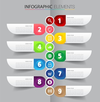Bannière d'infographie de modèle de zone de texte de chronologie moderne