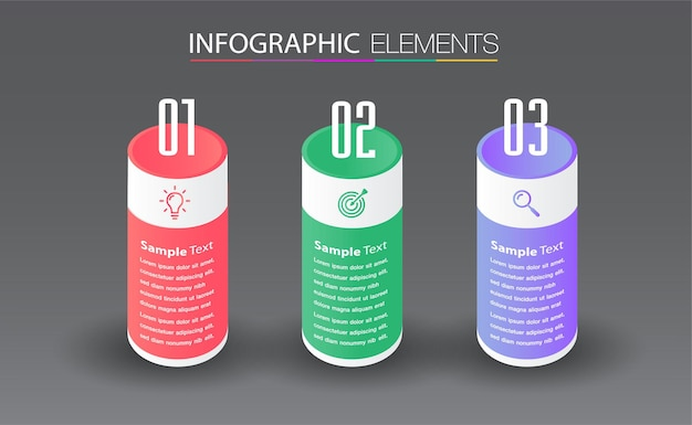 Bannière d'infographie de modèle de zone de texte moderne