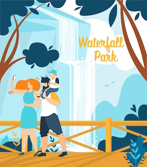 Bannière d'information waterfall park