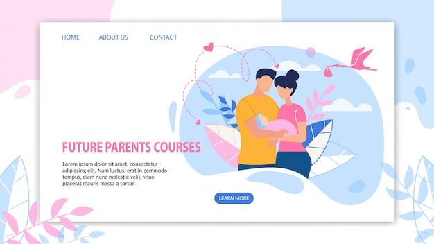 Bannière informative future parents courses flat.