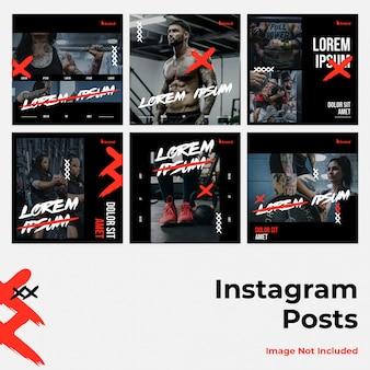 Bannière instagram féroce des médias sociaux