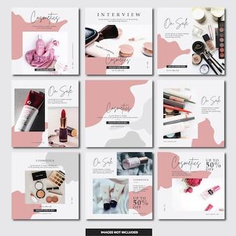 Bannière instagram de médias sociaux (cosmétiques)