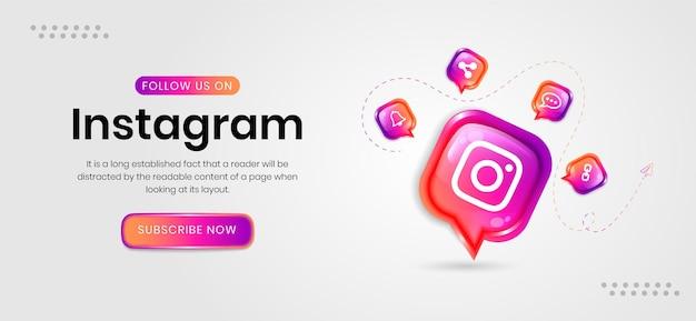 Bannière instagram de médias sociaux